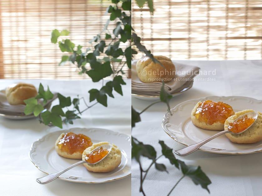 Marmelade d'orange, scones