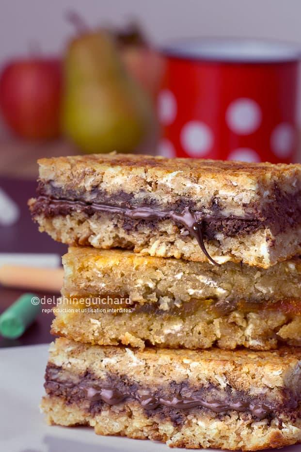 Goûter maison : barres chocolat ou confiture