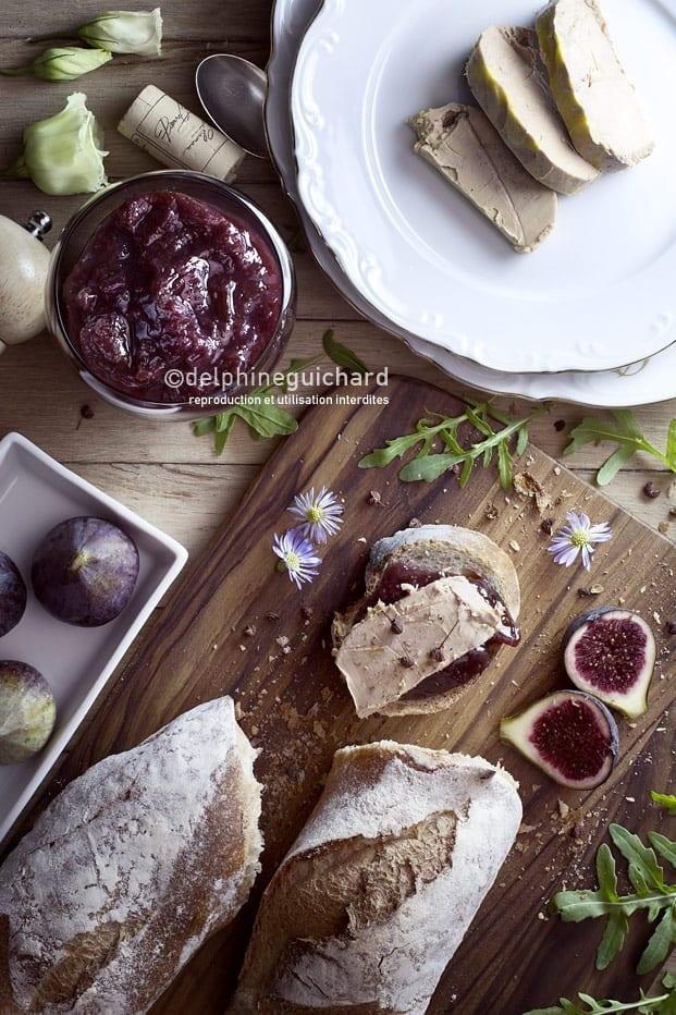 Foie gras et chtney de figues