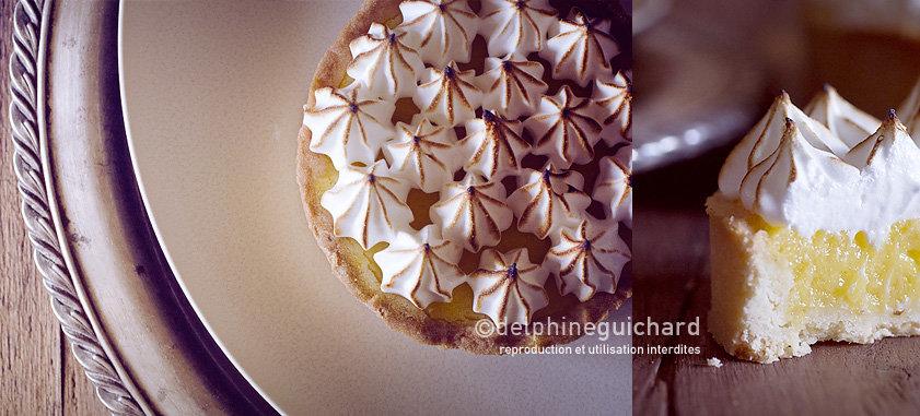 Tarte au citron meringuée, un dessert croquant, crémeux, nuageux, acidulé : délicieux