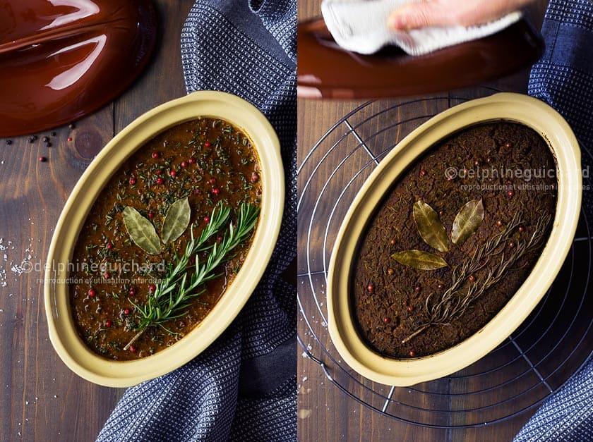 Terrine végétale aux haricots rouges, avant et après cuisson - Cook'n Focus