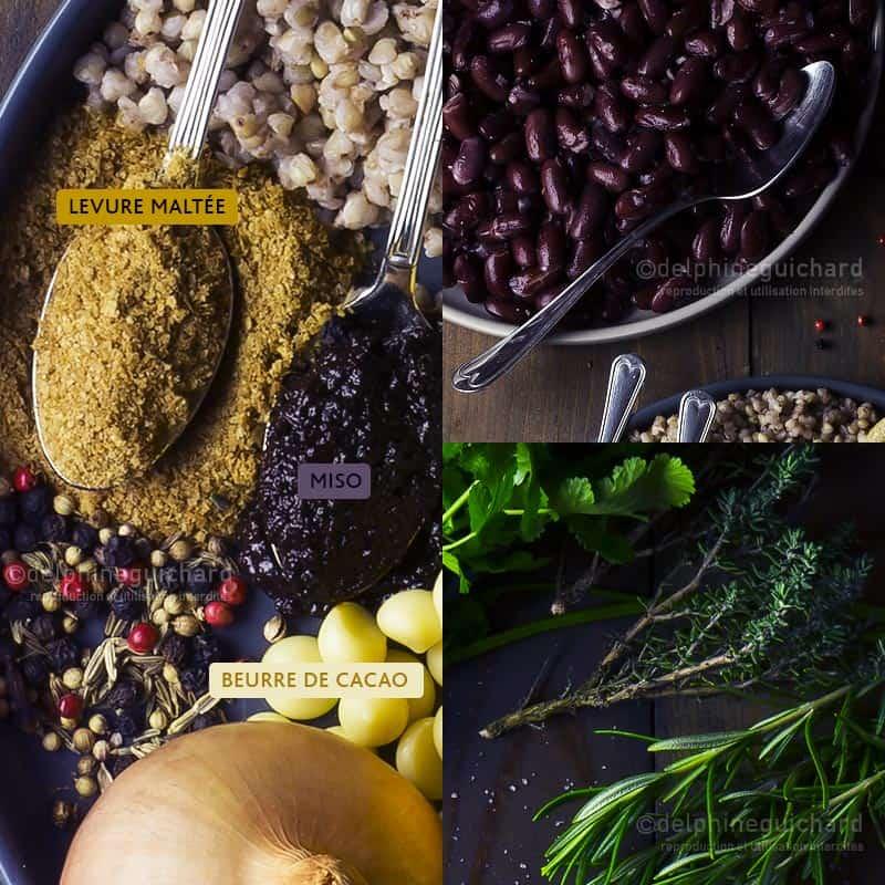 Terrine végétale aux haricots rouges, les ingrédients - Cook'n Focus