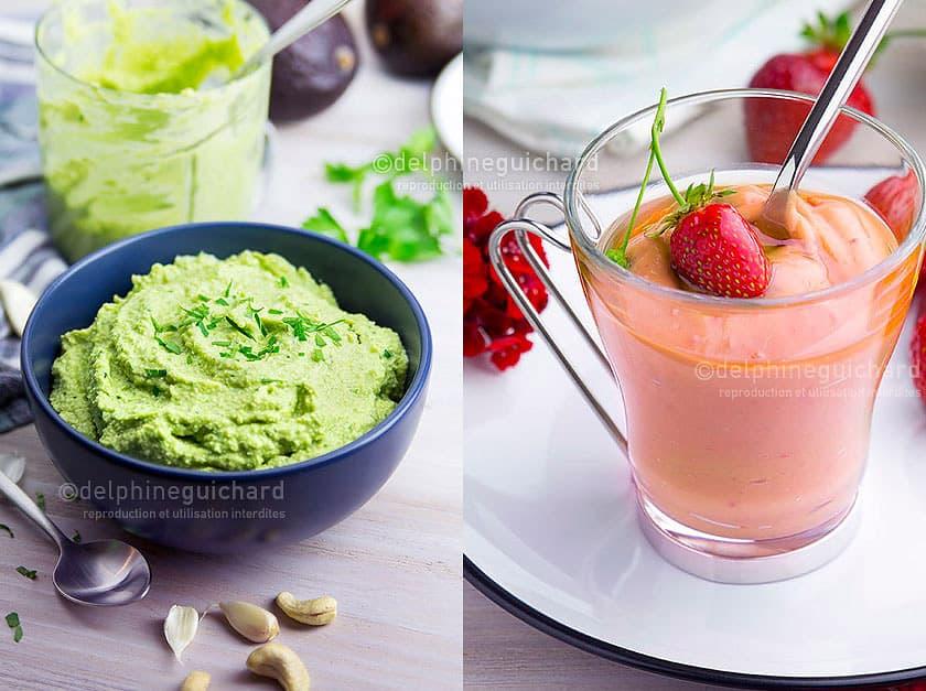 Simplement bio, simplement bon, par Valérie Cupillard - Photographies des recettes : aïoli vert et crème de fraise