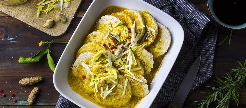 Tempeh mariné à l'orange et au gingembre pour relever les repas végétaliens, snack, salades, etc.