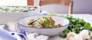 Moussaka végétale, plat complet gourmand et généreux au kasha et haché de soja (vegan) - Vegan moussaka, a greedy and generous dish, with kasha and chopped soya