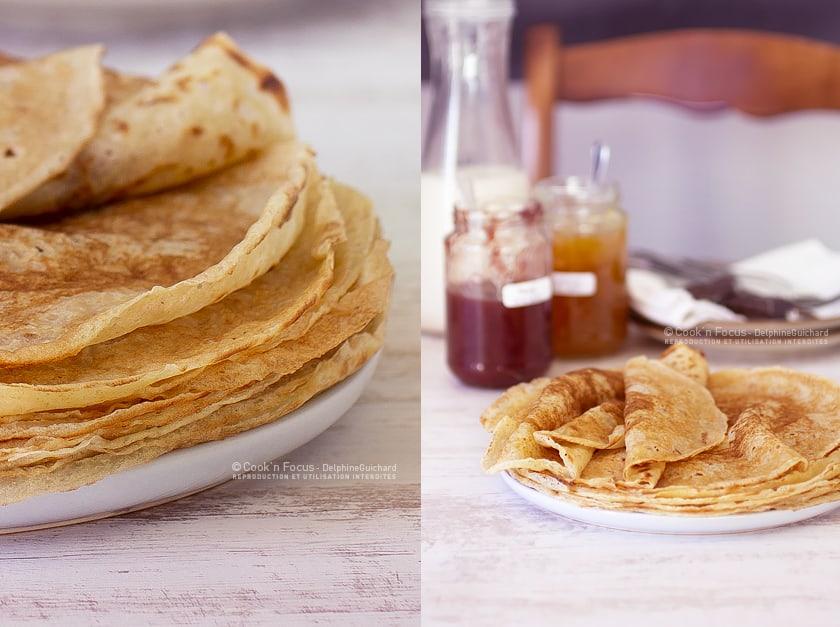 Une recette de crêpes vegan pour le dessert ou au goûter, facile à préparer et à cuire !